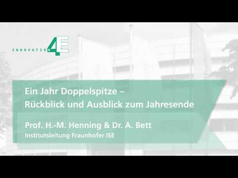 Ein Jahr Doppelspitze am Fraunhofer ISE – Rückblick und Ausblick zum Jahresende