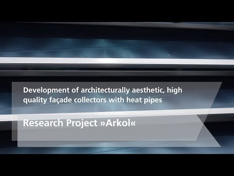 Research Project 'Arkol' – Development of façade collectors with heat pipes