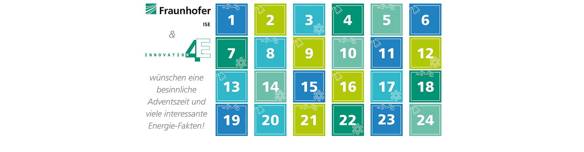 Erst eins, dann zwei, dann drei, dann vier… Der Energy Charts-Adventskalender