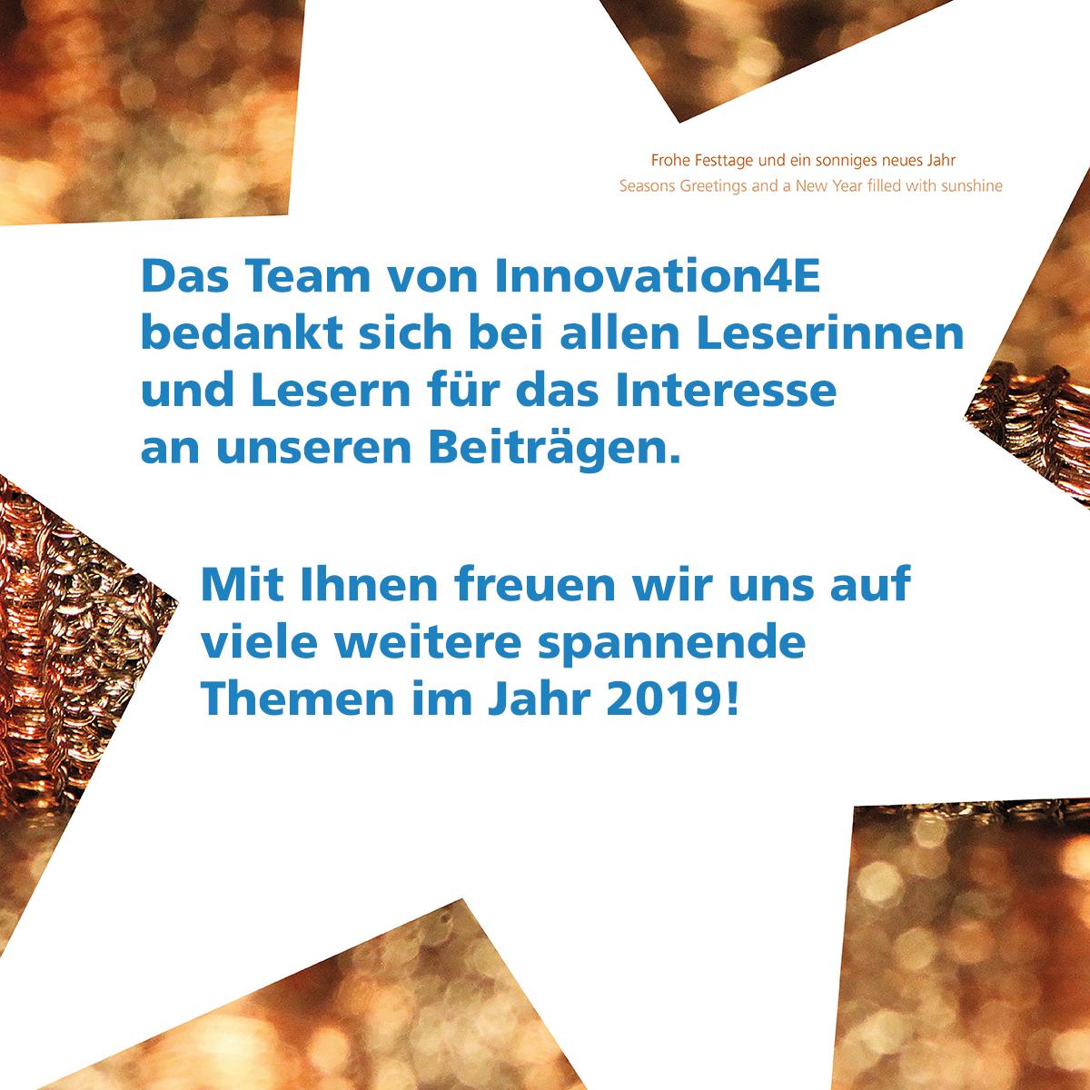 Weihnachtsgruß von Innovation4E