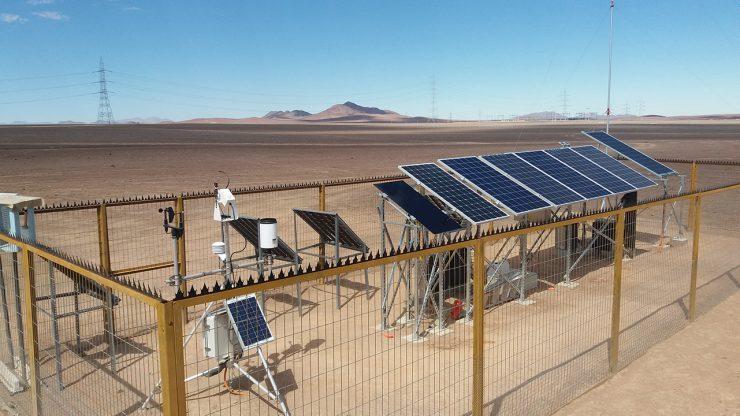 Feldmessungen für den Solartechnologiebezirk Diego de Almagro